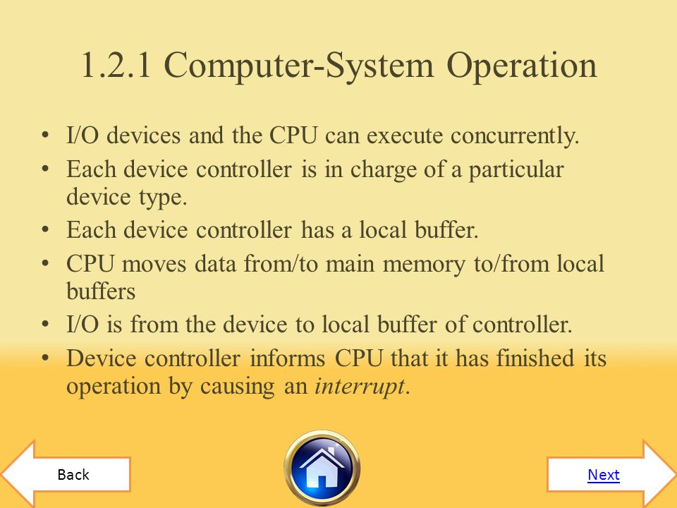1.2.1 Computer-System Operation