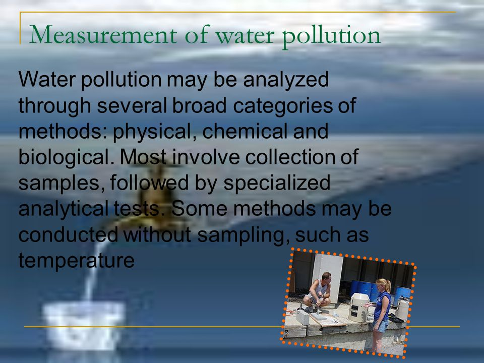 Measurement of water pollution