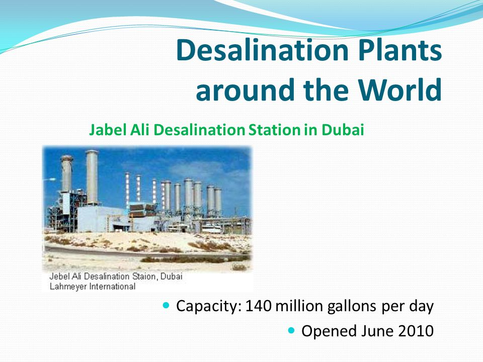 Desalination Plants around the World