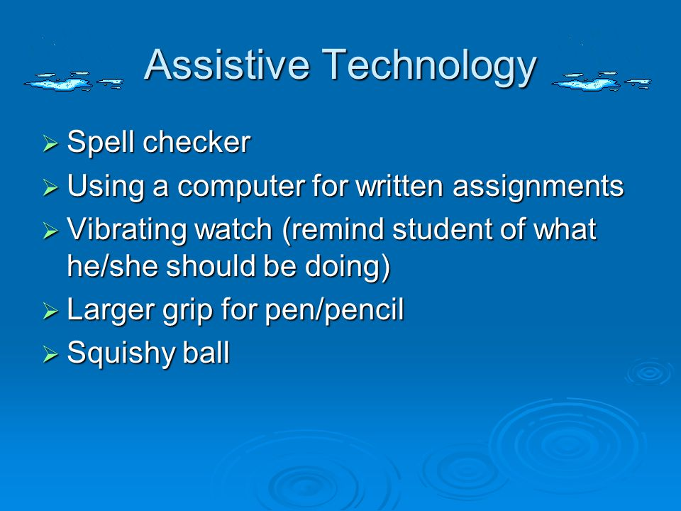 Assistive Technology Spell checker