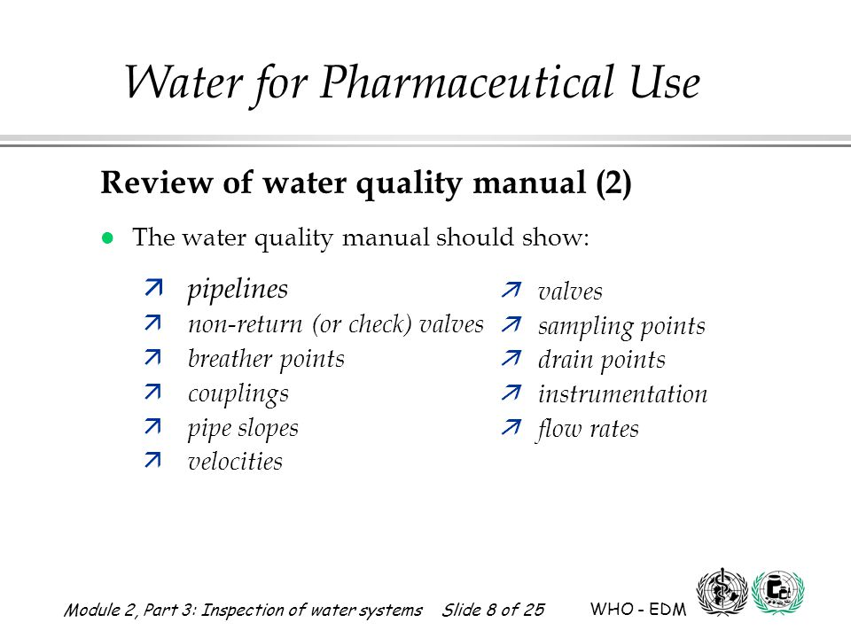 Review of water quality manual (2)