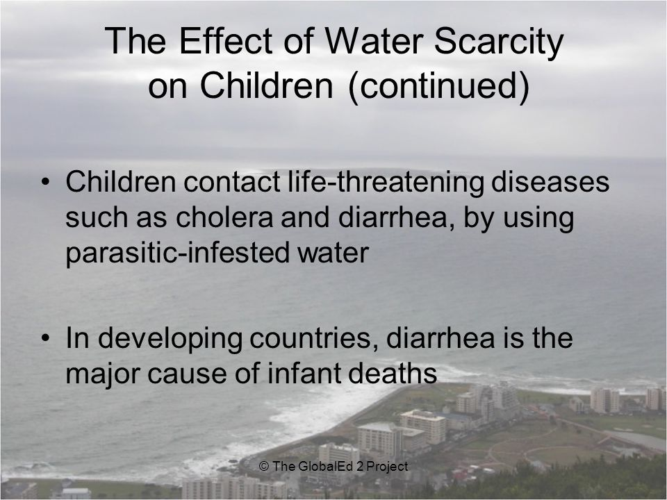 The Effect of Water Scarcity on Children (continued)