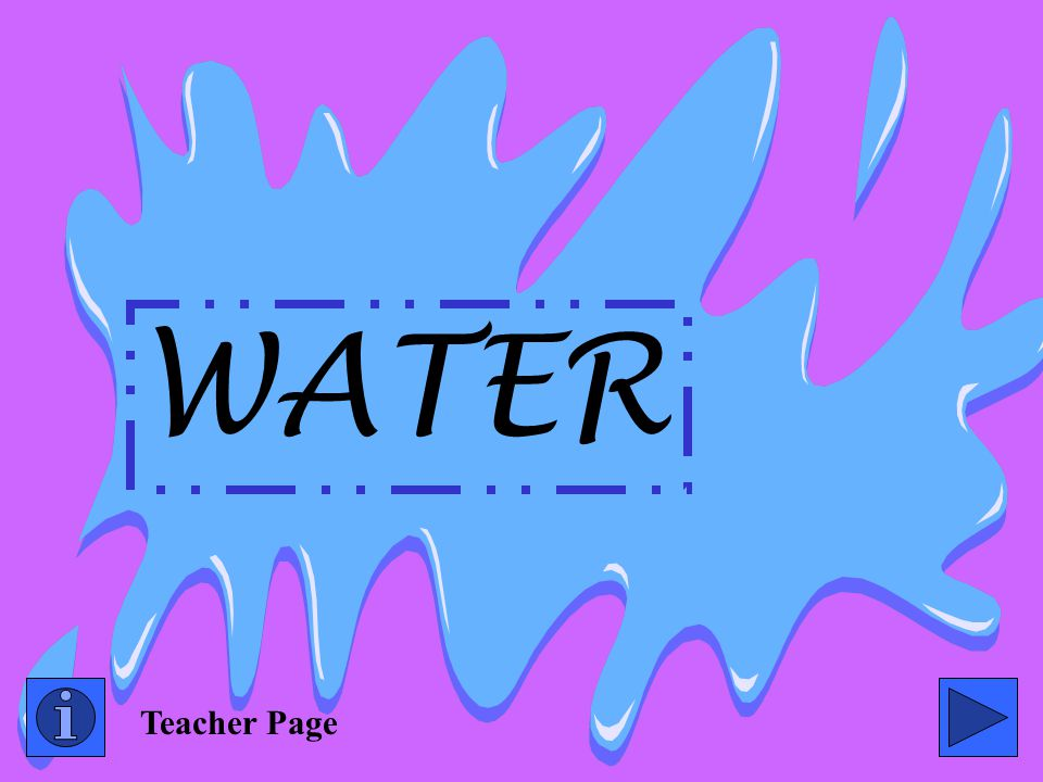 WATER Teacher Page