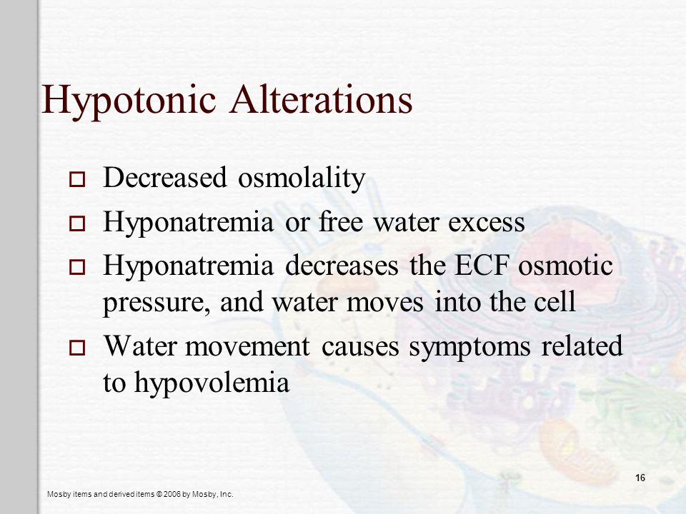 Hypotonic Alterations