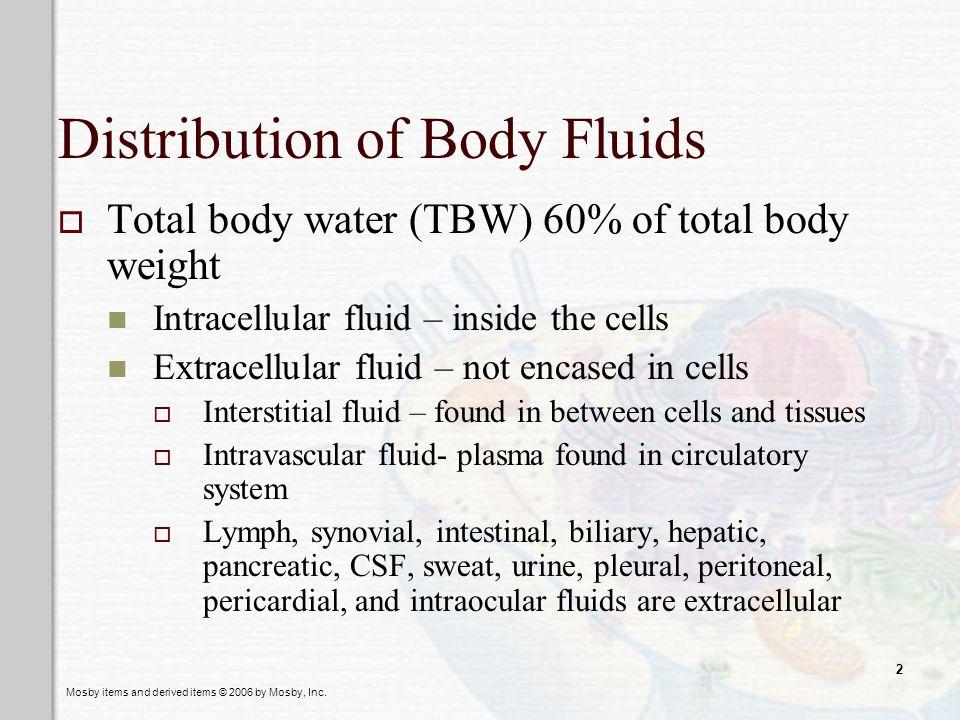 Distribution of Body Fluids