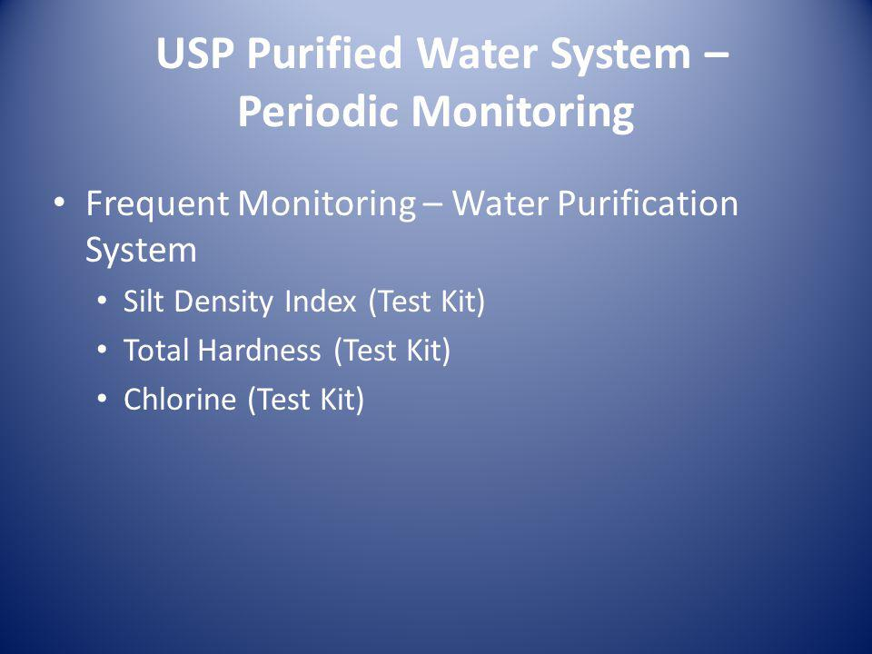 USP Purified Water System – Periodic Monitoring