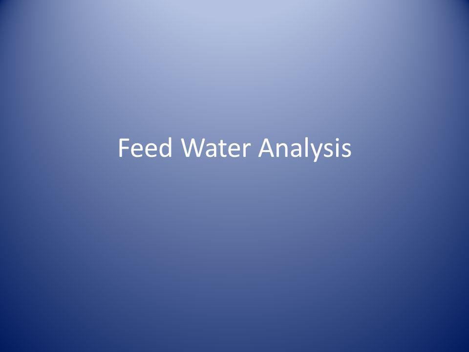 Feed Water Analysis