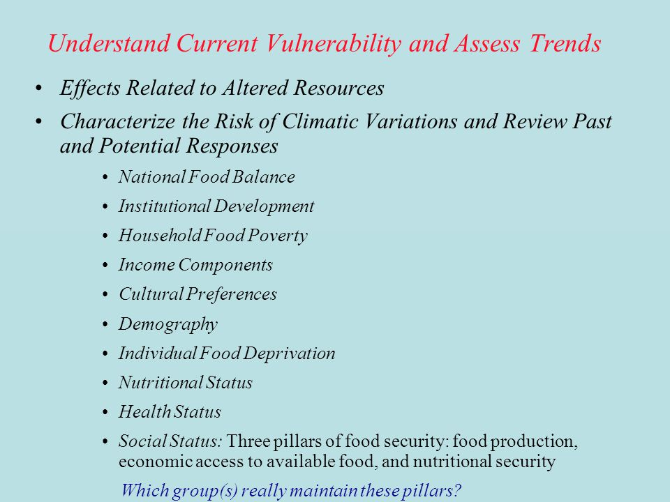 Understand Current Vulnerability and Assess Trends