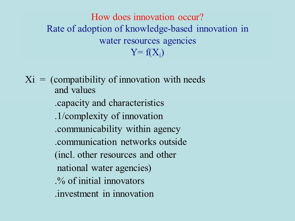 How does innovation occur