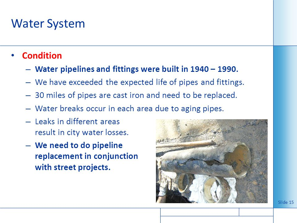 Water System Condition