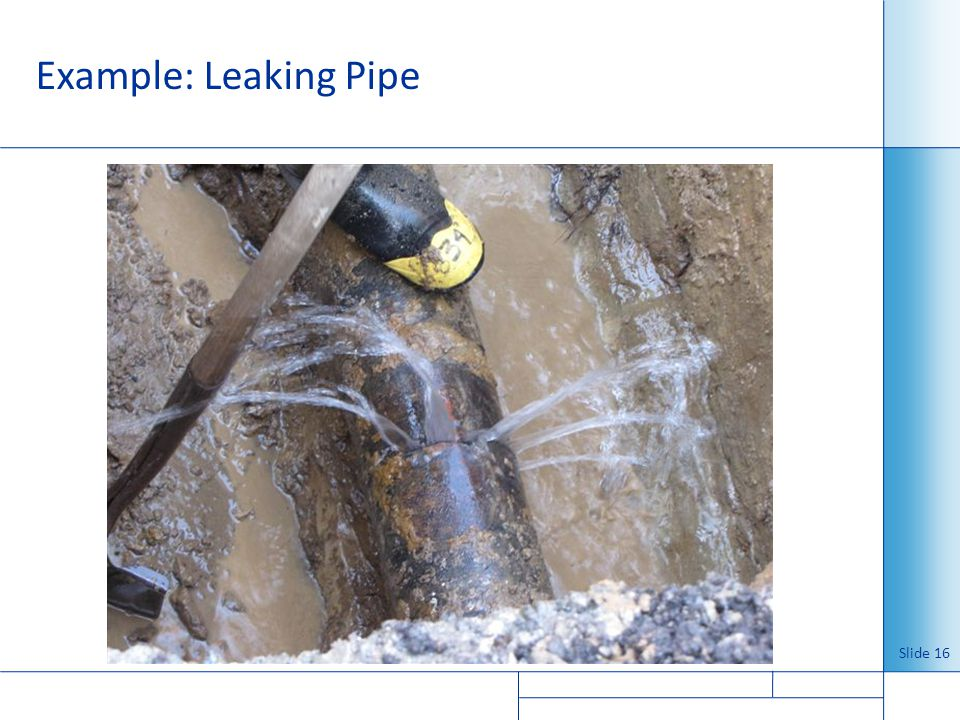 Example: Leaking Pipe