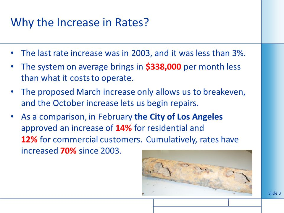 Why the Increase in Rates