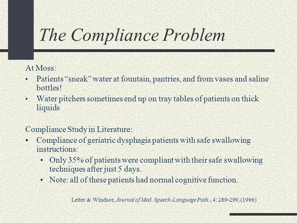 The Compliance Problem