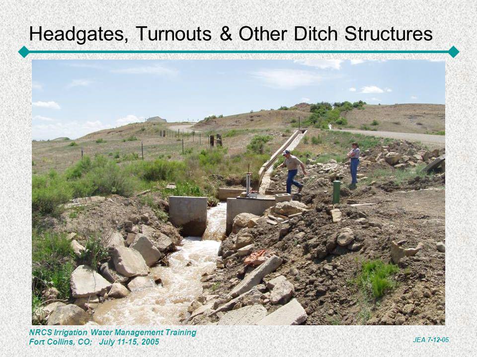 Headgates, Turnouts & Other Ditch Structures