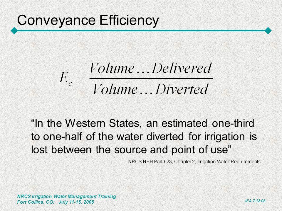 Conveyance Efficiency