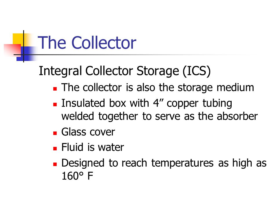 The Collector Integral Collector Storage (ICS)