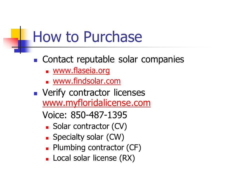 How to Purchase Contact reputable solar companies