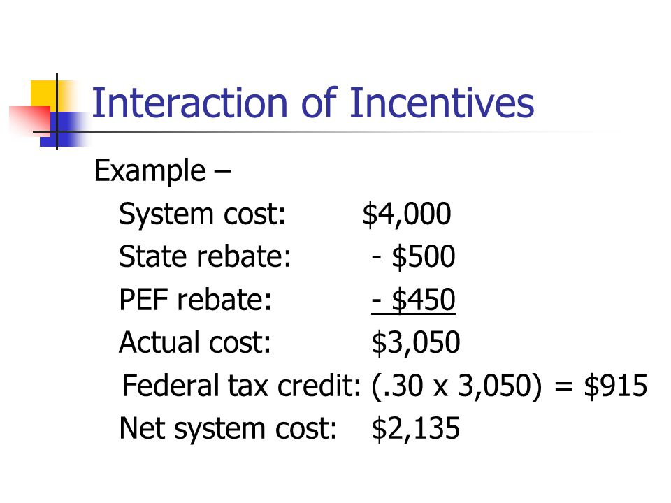 Interaction of Incentives