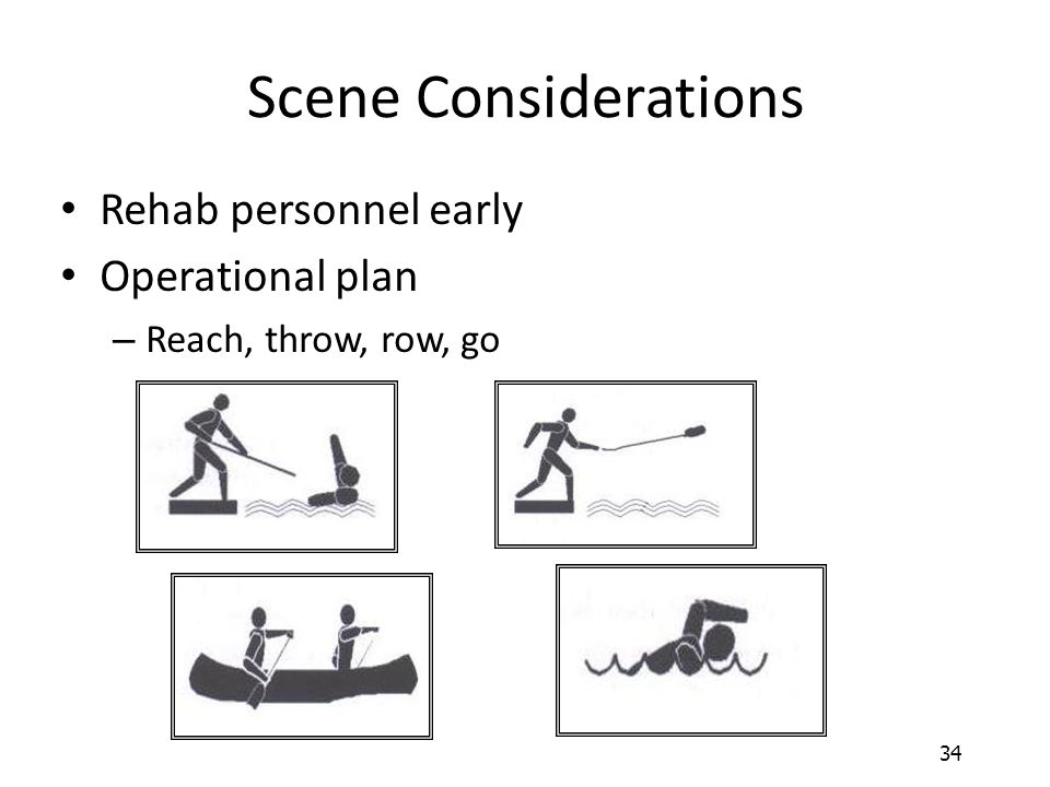 Scene Considerations Rehab personnel early Operational plan
