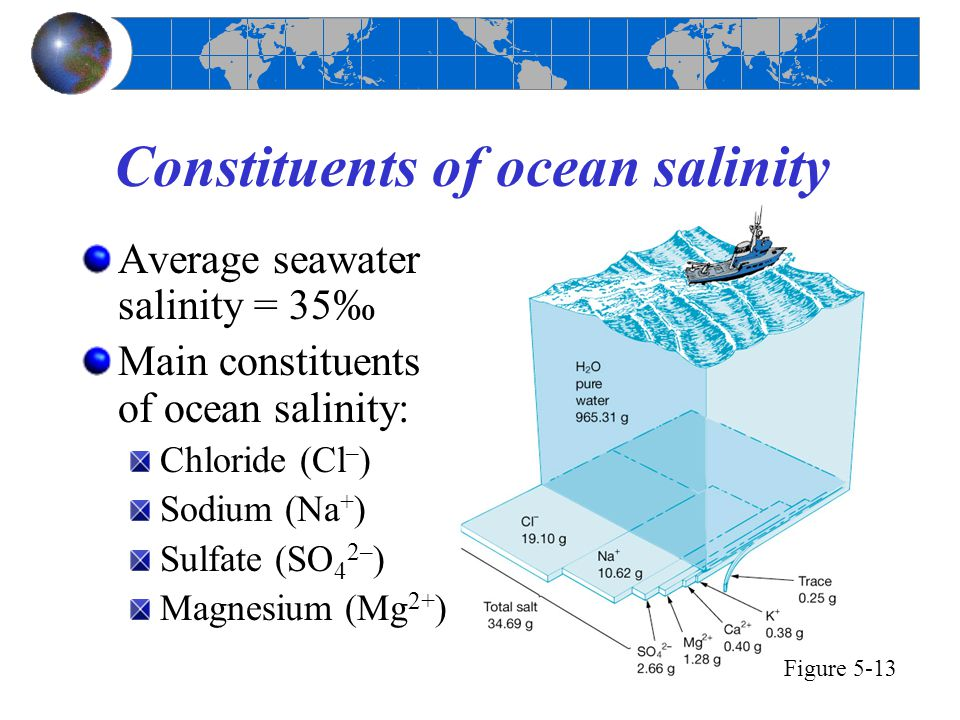 Constituents of ocean salinity