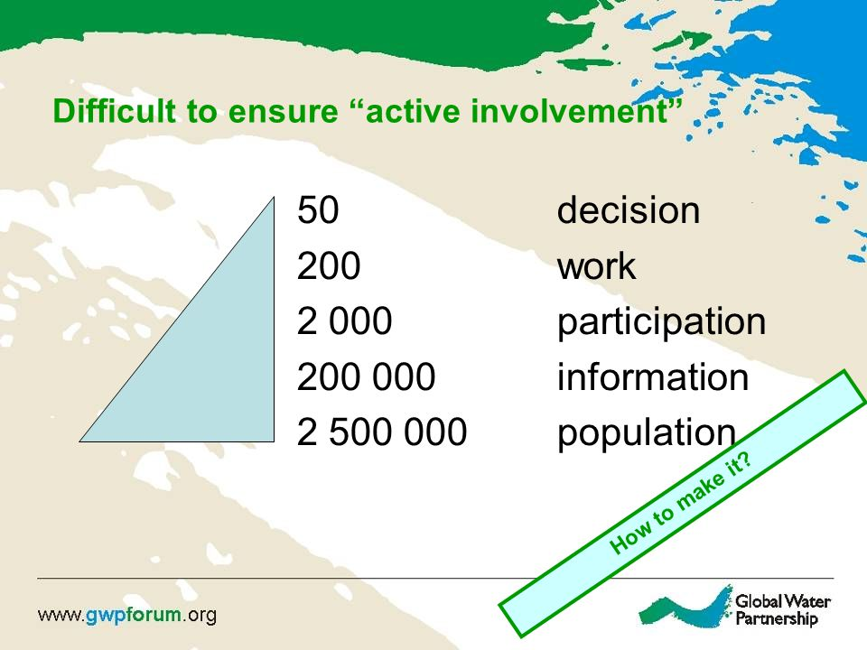 Difficult to ensure active involvement
