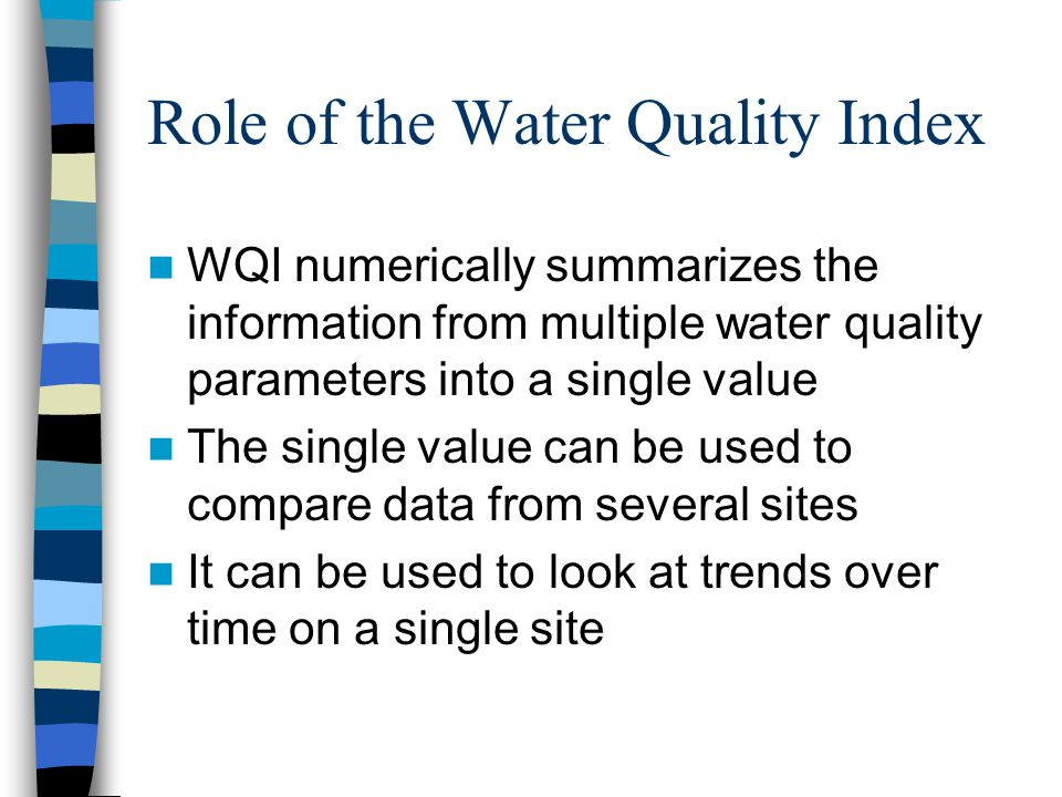 Role of the Water Quality Index