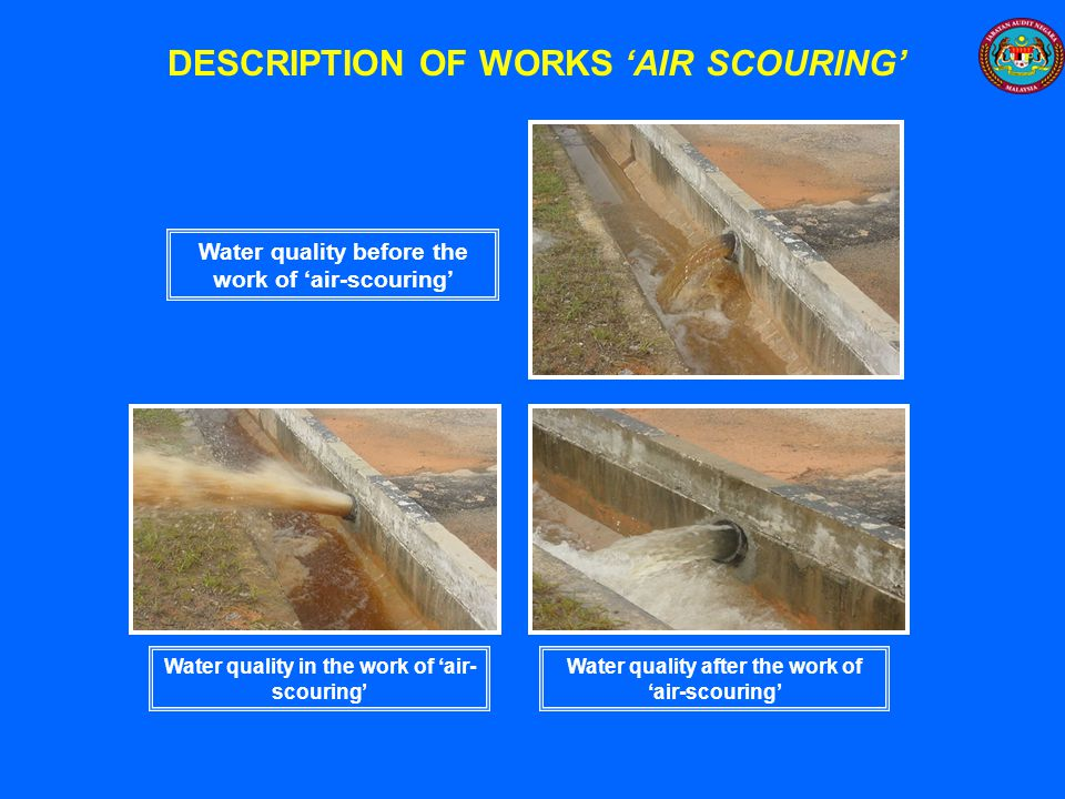 DESCRIPTION OF WORKS 'AIR SCOURING'