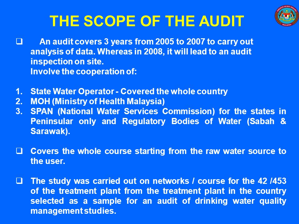 THE SCOPE OF THE AUDIT