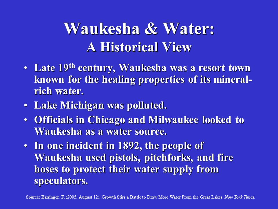 Waukesha & Water: A Historical View