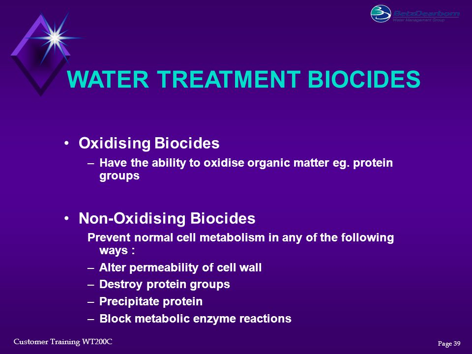 WATER TREATMENT BIOCIDES