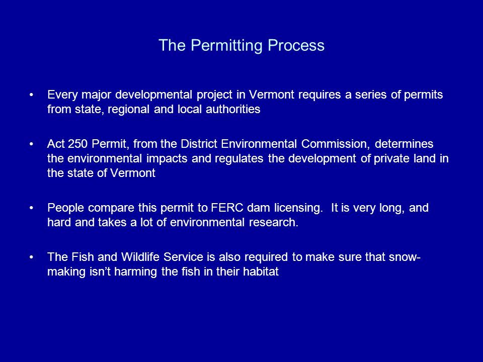 The Permitting Process