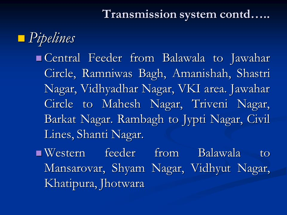 Transmission system contd…..