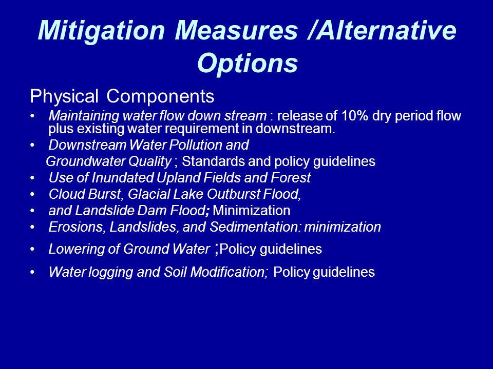 Mitigation Measures /Alternative Options