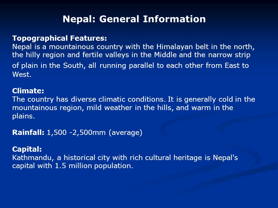 Nepal: General Information