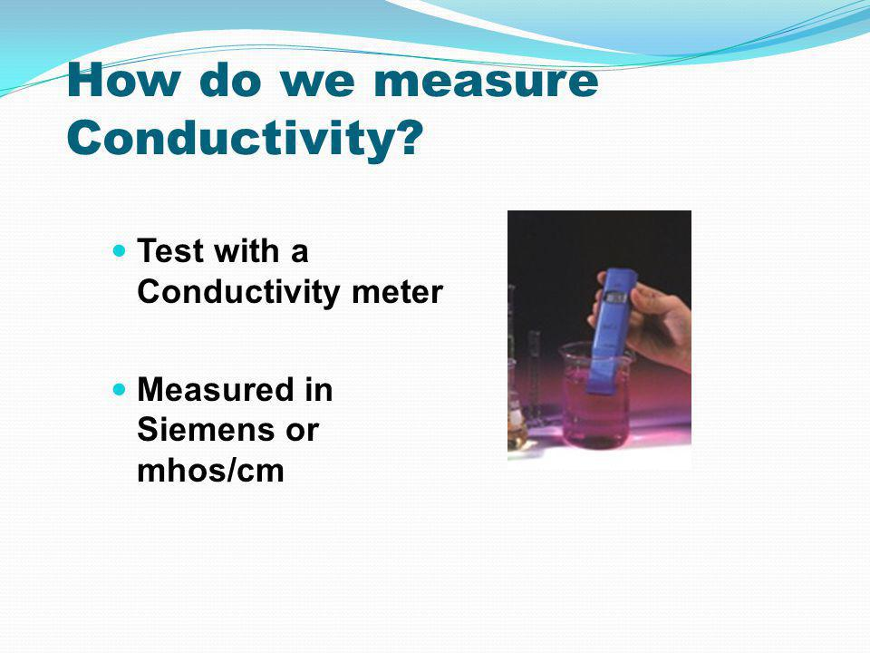 How do we measure Conductivity