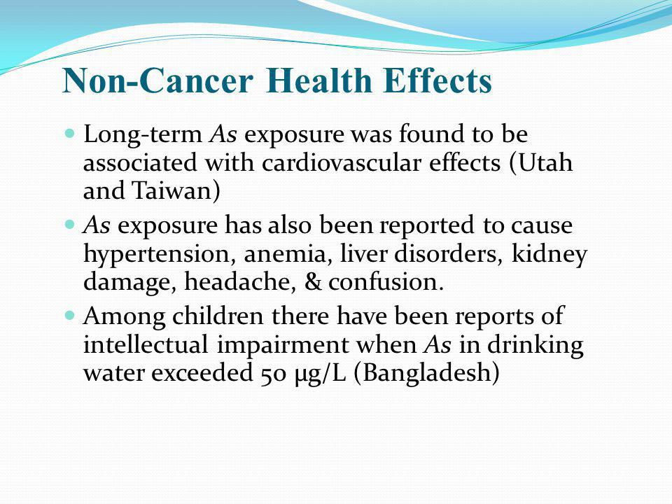 Non-Cancer Health Effects