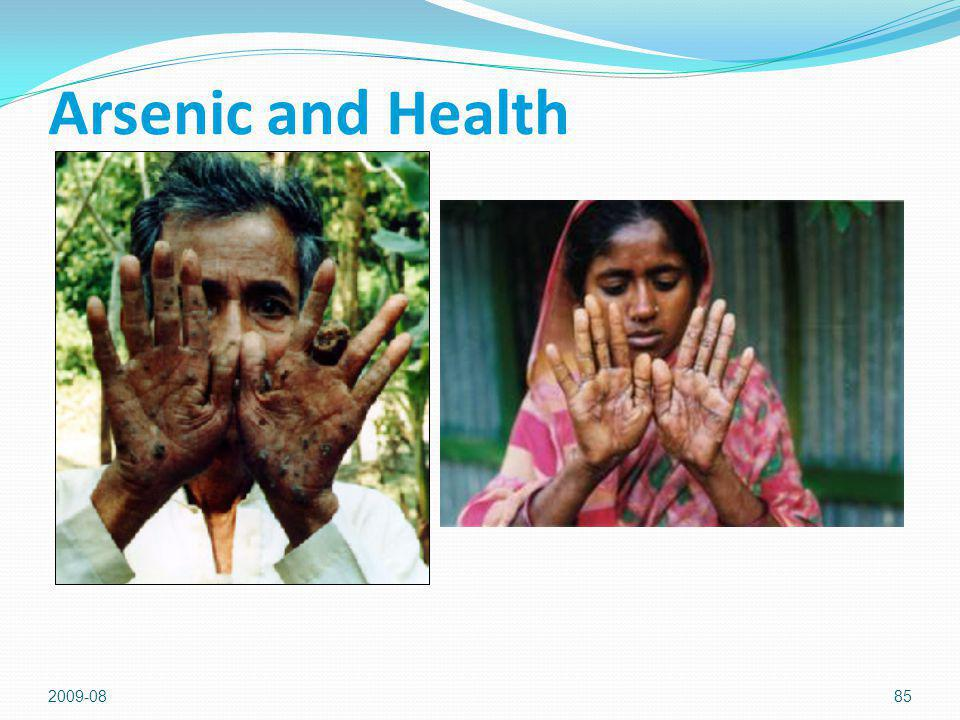 Arsenic and Health 2009-08