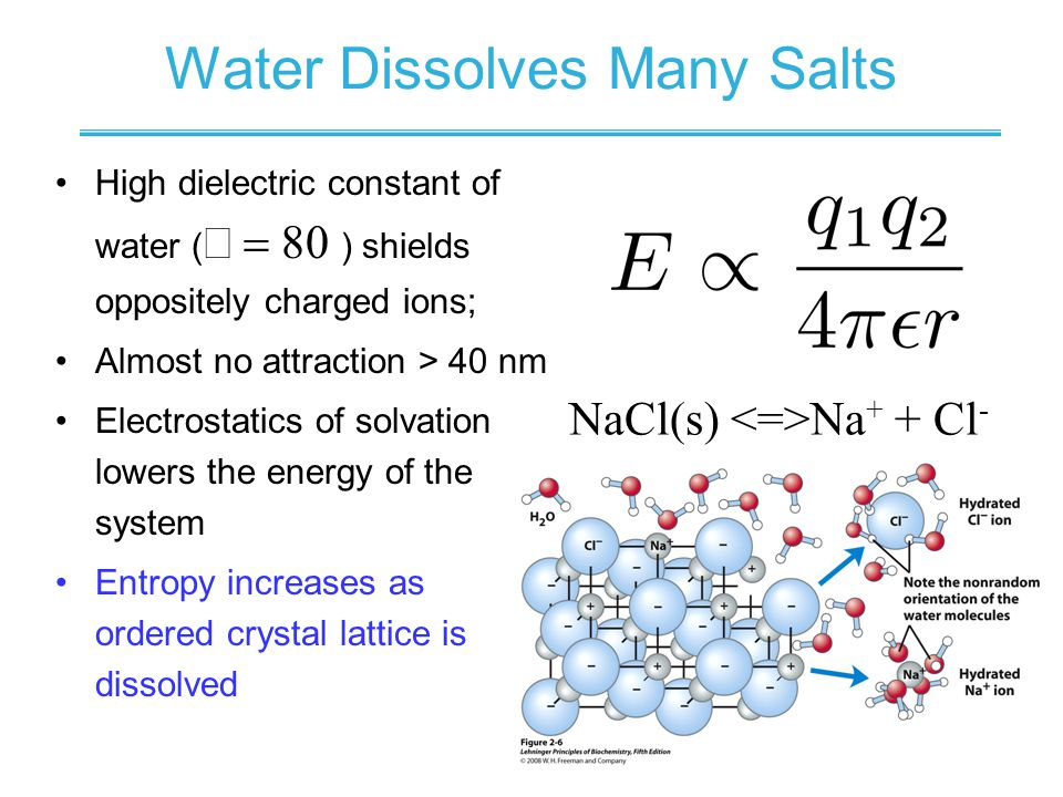 Water Dissolves Many Salts