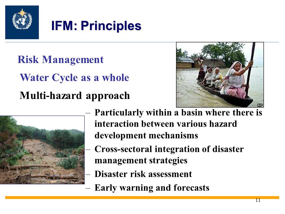 IFM: Principles Risk Management Water Cycle as a whole