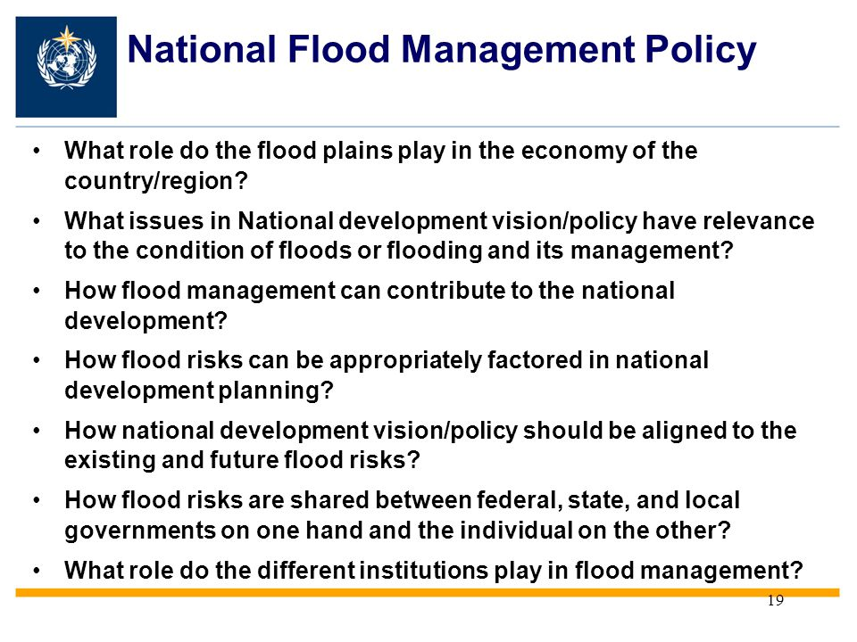 National Flood Management Policy