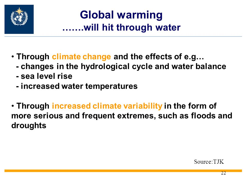Global warming …….will hit through water