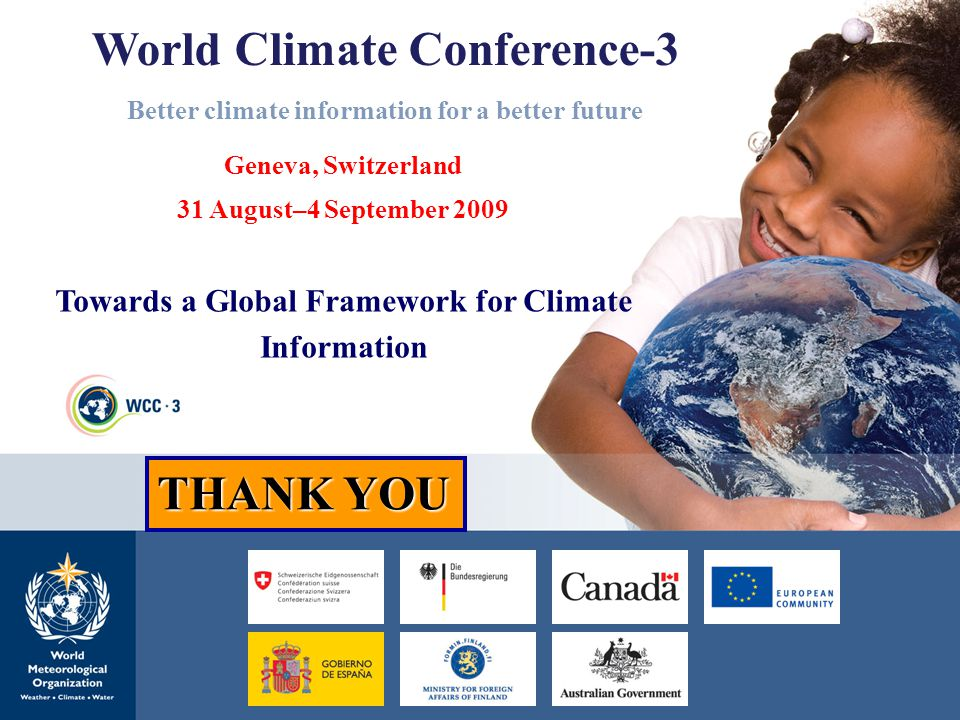 World Climate Conference-3 Better climate information for a better future
