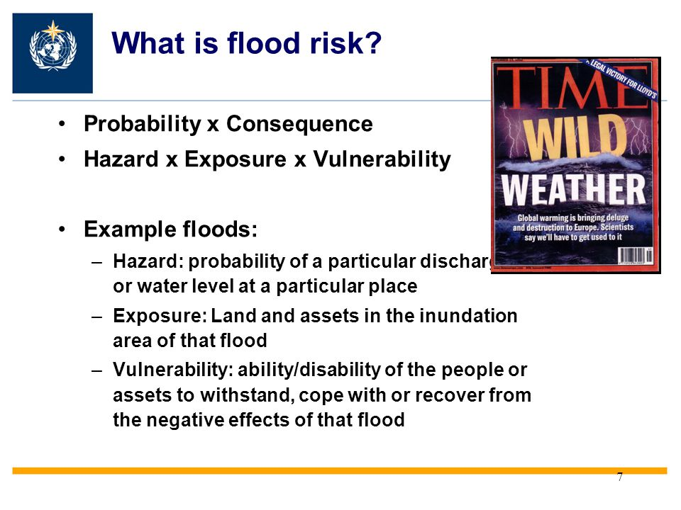 What is flood risk Probability x Consequence