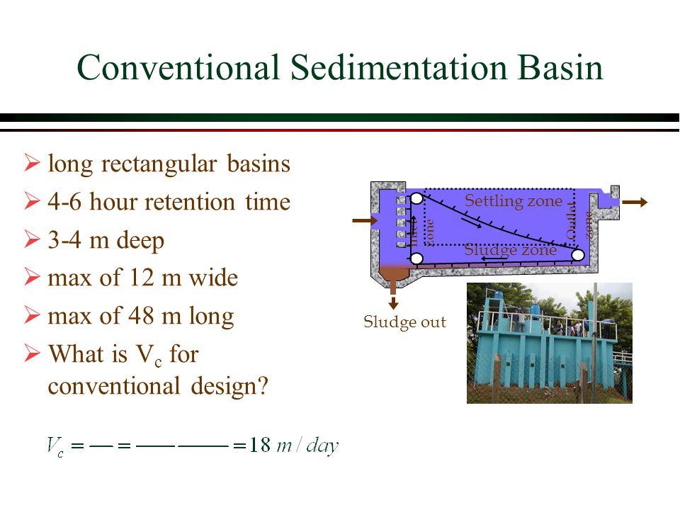 Conventional Sedimentation Basin