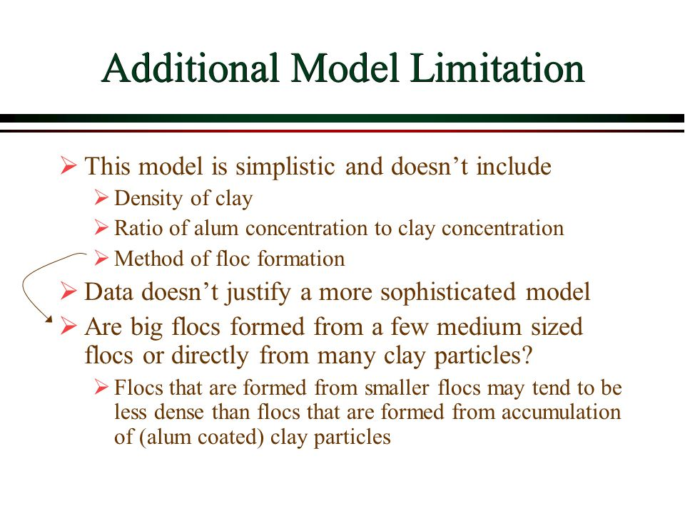 Additional Model Limitation
