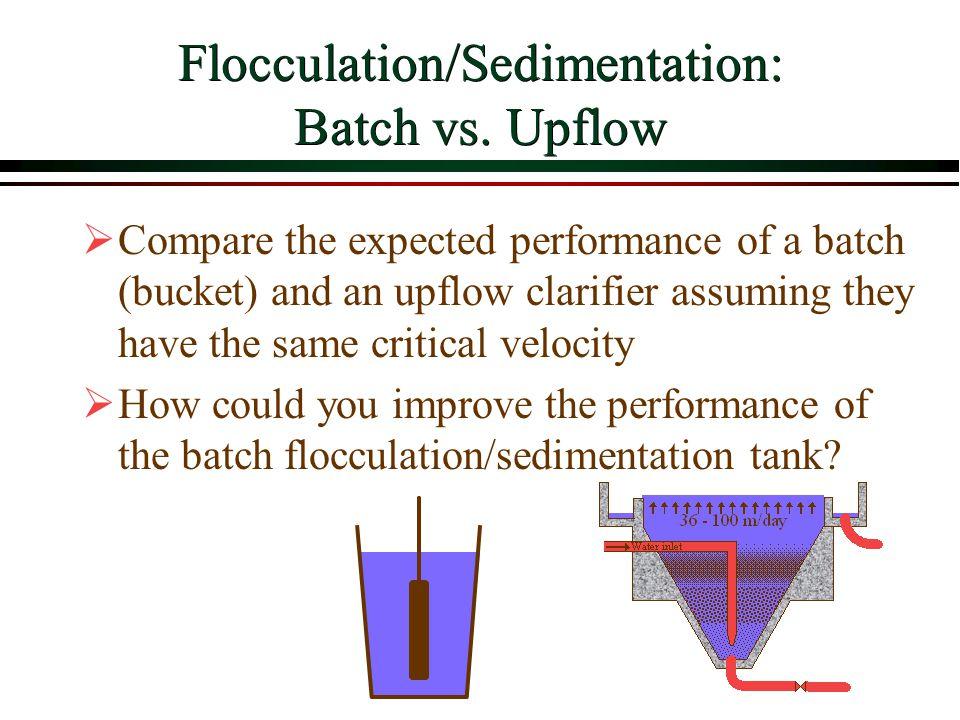 Flocculation/Sedimentation: Batch vs. Upflow