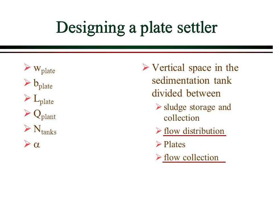 Designing a plate settler