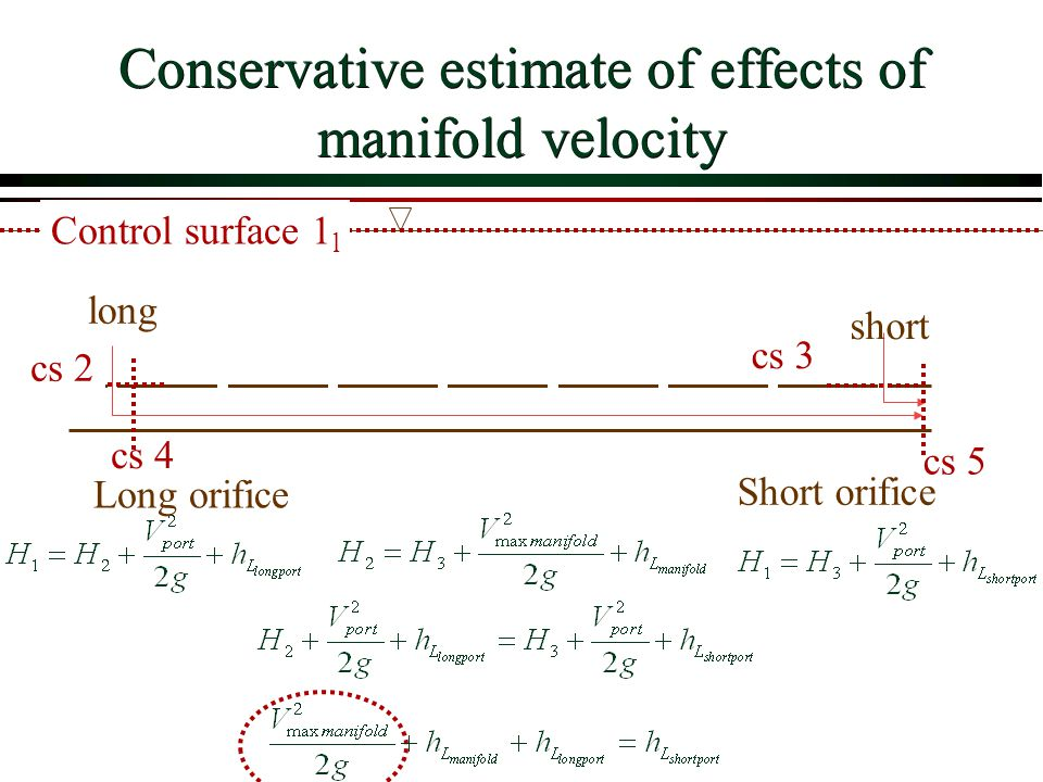 Conservative estimate of effects of manifold velocity