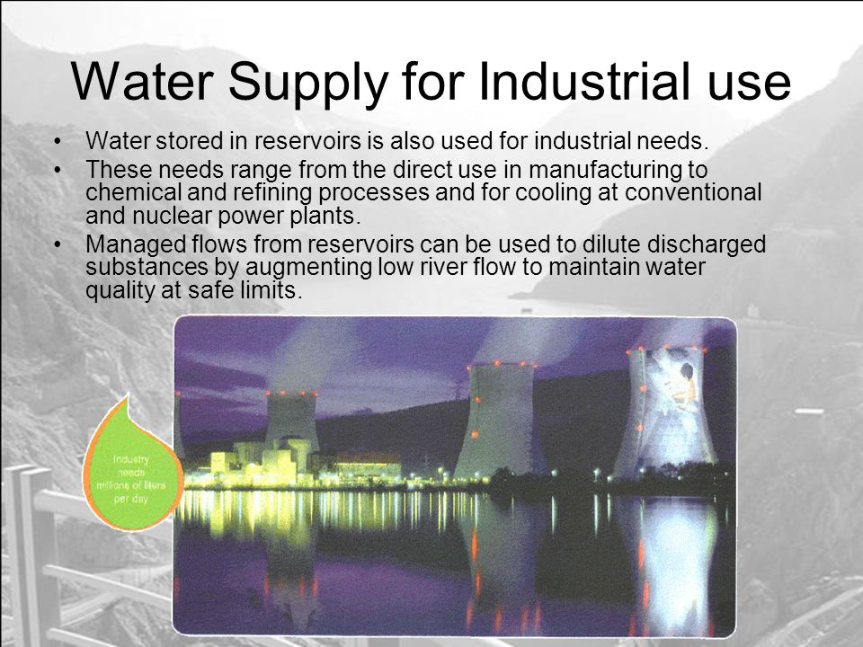 Water Supply for Industrial use