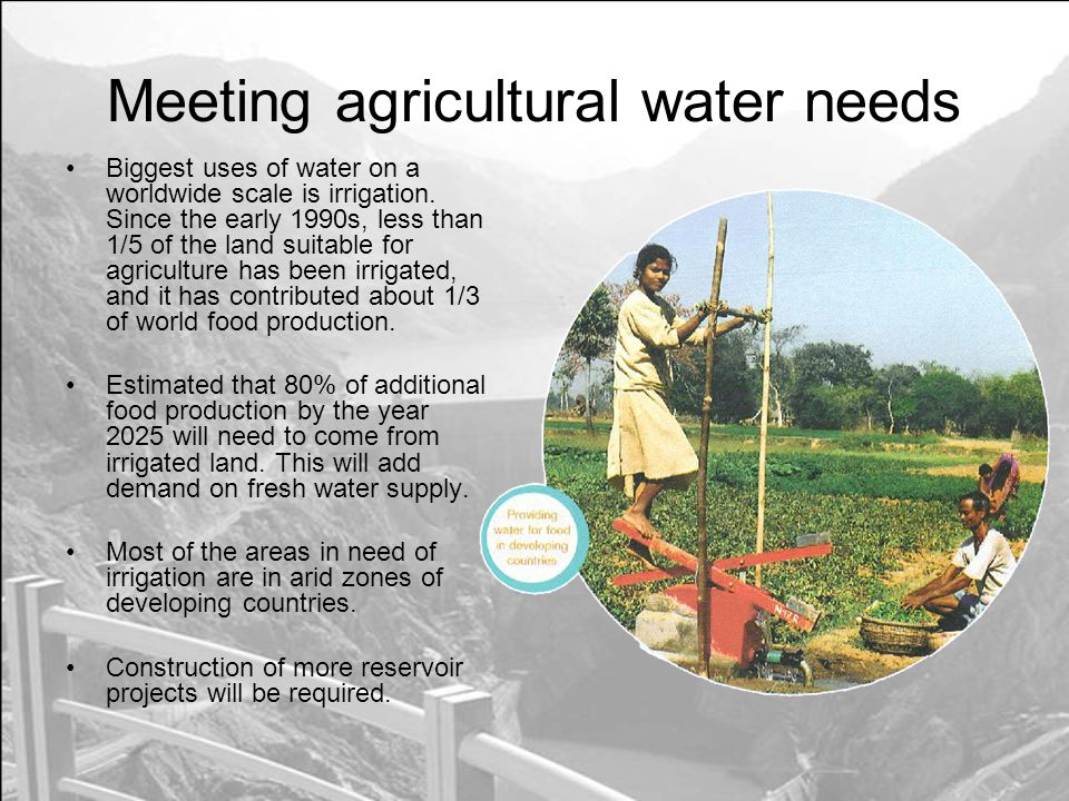 Meeting agricultural water needs
